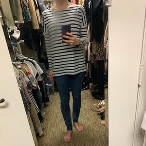 Jcrew Xs striped long sleeved tee